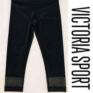 New Victoria Sport knockout mesh insert Capri pant